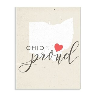 Ohio Proud with Heart Wall Plaque Art