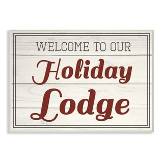 Our Holiday Lodge Vintage Wall Plaque Art