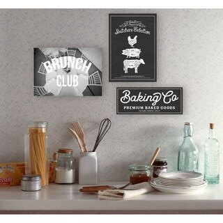 Baking Co Vintage Typography Sign Wall Plaque Art