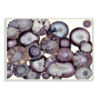 Grey and Purple Abstract Geode Wall Plaque Art