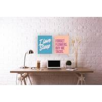 I Love Sleep Typography Wall Plaque Art