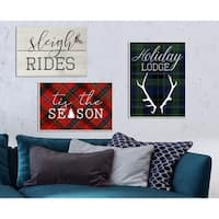 Sleigh Rides Vintage Christman Sign Wall Plaque Art