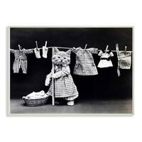 Kitten Does The Laundry Wall Plaque Art