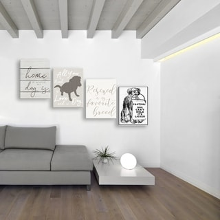 Home Is Where My Dog Is Wall Plaque Art