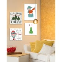 Very Merry Woodland Creature Wall Plaque Art