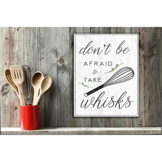 Kitchen Take Whisks Wall Plaque Art