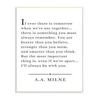 I'll Always Be With You A.A. Milne Wall Plaque Art