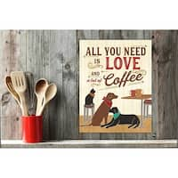 All You Need is Love and Coffee Wall Plaque Art