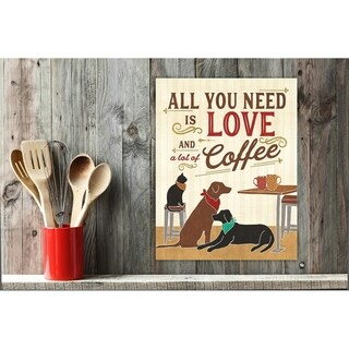 All You Need is Love and Coffee Wall Plaque Art (2 options available)