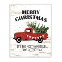 Christmas Most Wonderful Vintage Wall Plaque Art