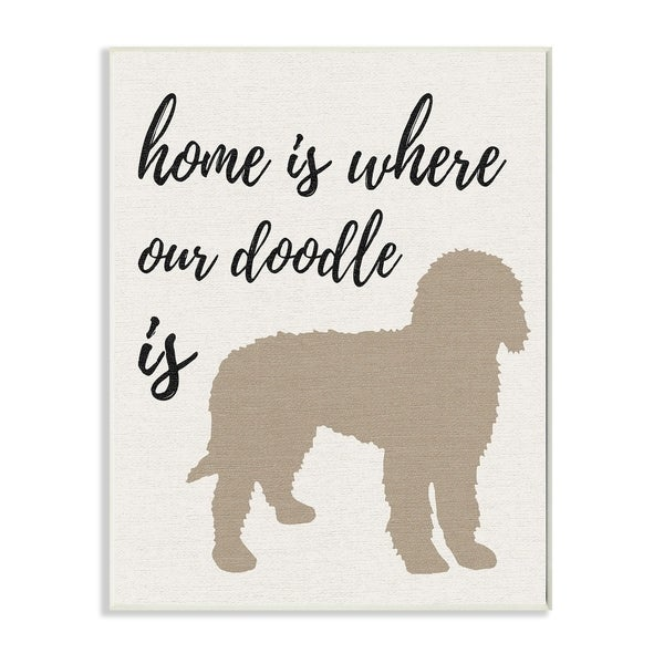 Home is Where Our Golden Doodle Is Wall Plaque Art
