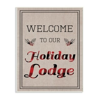 Our Holiday Lodge Wall Plaque Art