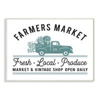 Farmer's Market Icon Vintage Sign Wall Plaque Art