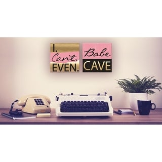 Babe Cave Pink and Gold Wall Plaque Art
