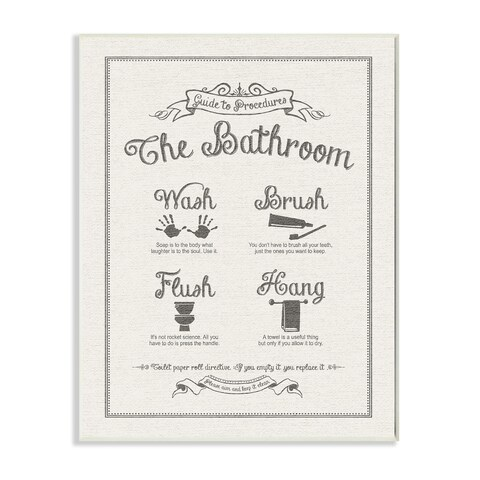 Guide To Bathroom Linen Look Wall Plaque Art
