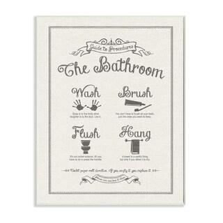 Guide To Bathroom Linen Look Wall Plaque Art