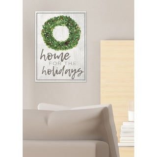 Home For the Holidays Wreath Wall Plaque Art