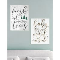 Baby Its Cold Outside Wall Plaque Art