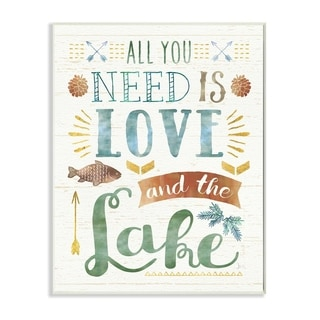 All You Need is Love and The Lake Wall Plaque Art