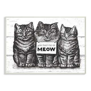 You Had Me at Meow Cats Wall Plaque Art