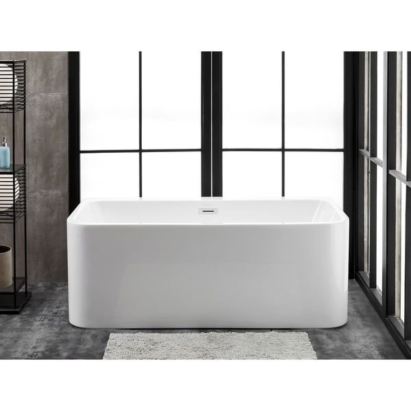 "Bordeaux 59"" x 28"" Freestanding Acrylic Soaking Bathtub by Finesse"