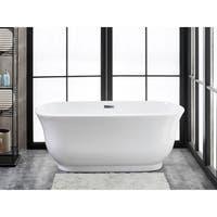 "Julieta 59"" x 28"" Freestanding Acrylic Soaking Bathtub by Finesse"