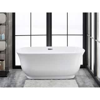 Julieta 59 X 28 Freestanding Acrylic Soaking Bathtub By Finesse