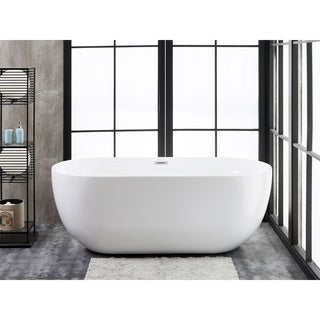 "Siena 59"" x 28"" Freestanding Acrylic Soaking Bathtub by Finesse"