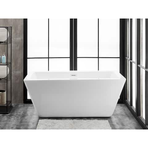 "Ravenna 65"" x 30"" Freestanding Acrylic Soaking Bathtub by Finesse"