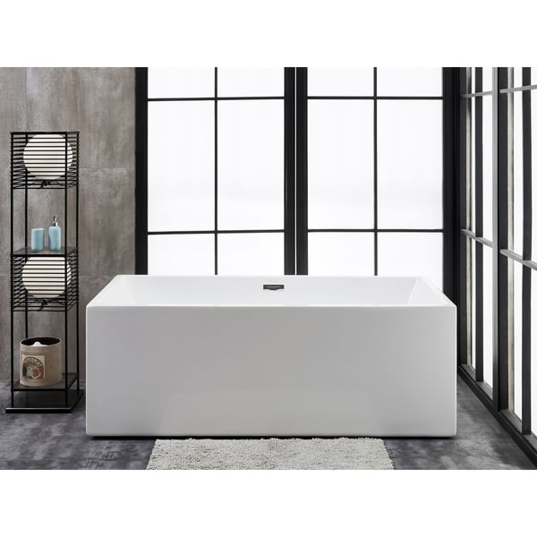 "Verona 58"" x 31"" Freestanding Acrylic Soaking Bathtub by Finesse"