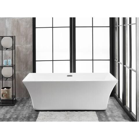 "Capri 67"" x 30"" Freestanding Acrylic Soaking Bathtub by Finesse"