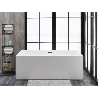 "Verona 62"" x 31"" Freestanding Acrylic Soaking Bathtub by Finesse"