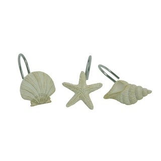 Coastal Moonlight Shower curtain hooks by Bacova