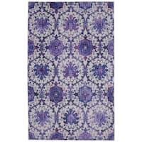 Copper Grove Fontana Purple/ MultiColor Floral Trellis Everstrand Area Rug - 8' x 10'