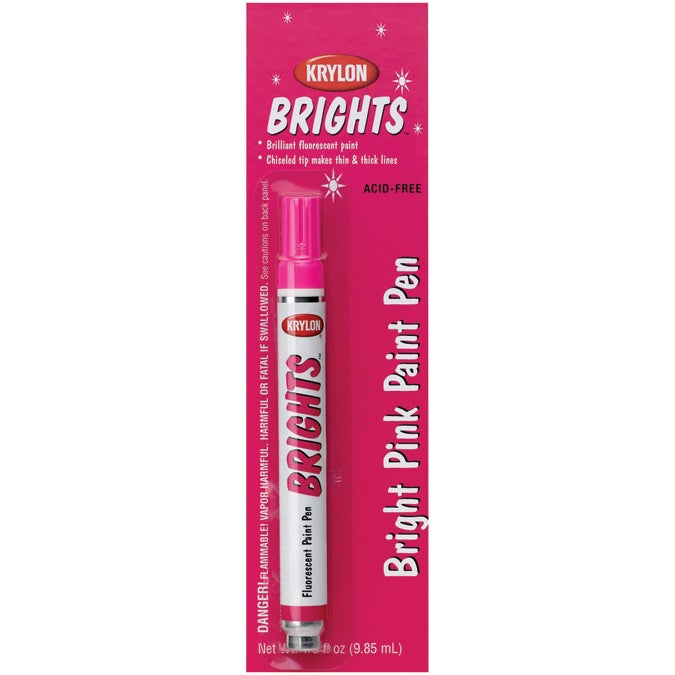 Krylon Brights Fluorescent Paint Pen (Bright Pink)