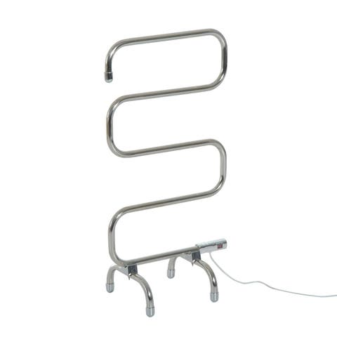 """HomCom 37.5"""" Stainless Steel Freestanding Electric Towel Warmer Rack"""