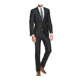 Braveman Men's Slim Fit 2 Piece Suit in Black(As Is Item)