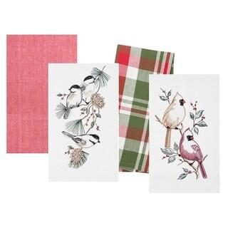 Christmas Birds Towel Set of 4