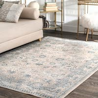 nuLoom Traditional Persian Florette Beige Rug (9' x 12') - 9' x 12'