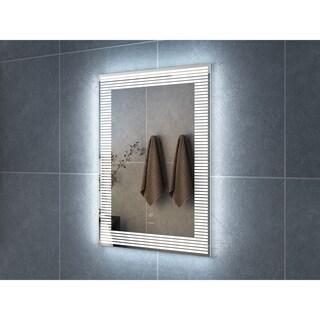 "24"" Draco Illuminated Rectangle LED Mirror by Finesse"