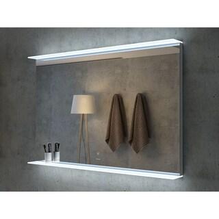 "48"" Aurora Illuminated Rectangle LED Mirror by Finesse"