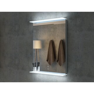 "24"" Aurora Illuminated Rectangle LED Mirror by Finesse"