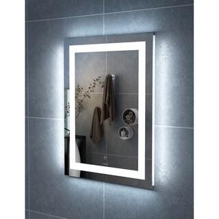 "24"" Carina Illuminated Rectangle LED Mirror by Finesse"