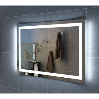 "48"" Carina Illuminated Rectangle LED Mirror by Finesse"