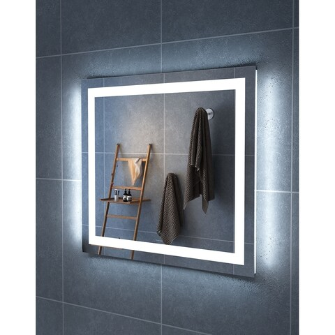 "36"" Carina Illuminated Rectangle LED Mirror by Finesse - Clear - 36"" w x 1.2"" d x 32"" h"