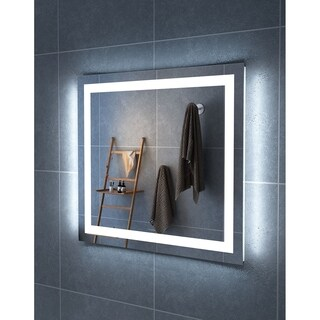 "36"" Carina Illuminated Rectangle LED Mirror by Finesse"