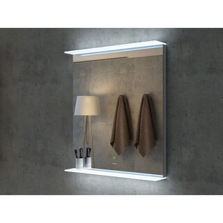 "28"" Aurora Illuminated Rectangle LED Mirror by Finesse"