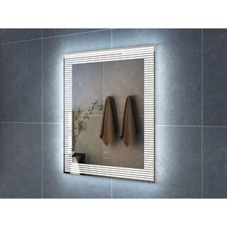 "28"" Draco Illuminated Rectangle LED Mirror by Finesse"