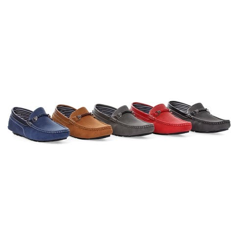 Miko Lotti Men's Driver Shoes with Chain Detail