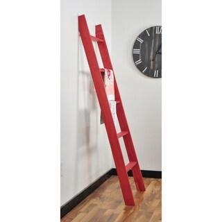 Red Holland 72 in. Decorative Blanket Ladder